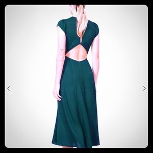 Reformation gavin dress- emerald